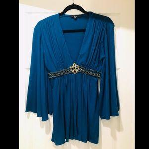 Sky Brand blue blouse